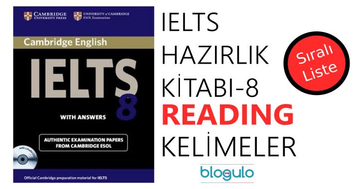 IELTS Hazırlık Kitabı-8 Sıralı Kelime Listeleri