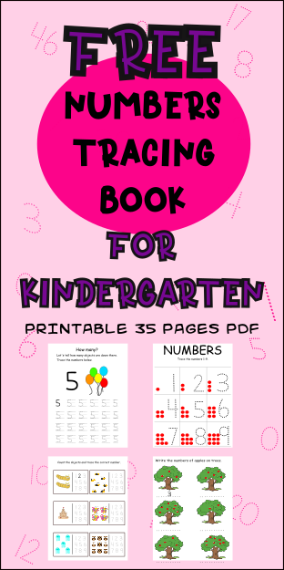 Numbers Tracing Preschool Math Books For 3 Year-Olds