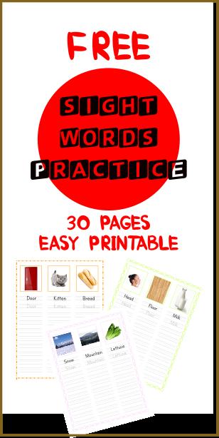 Free 90 Sight Words tracing 1st Grade Workbooks and 2nd Grade Workbooks