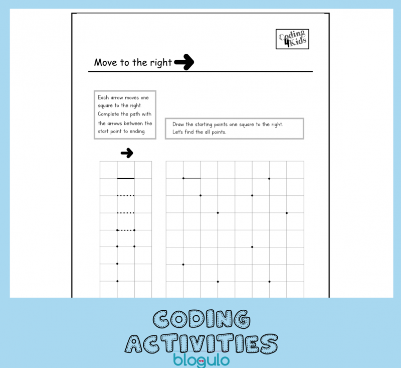 Coding and Algorithm Activities for Kids- Move Right