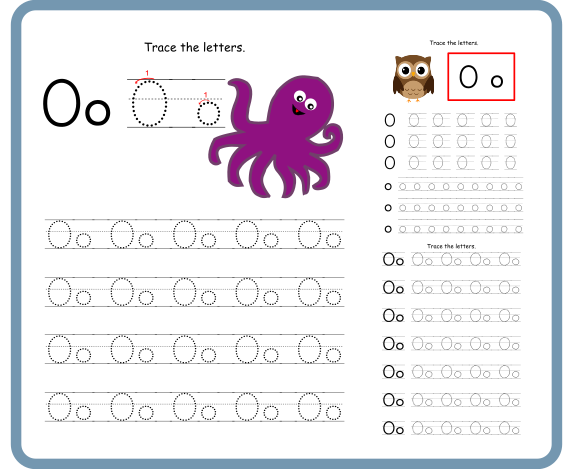 Letter O Tracing Worksheets – Free Download
