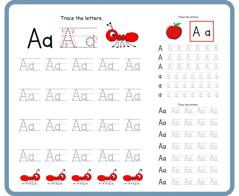 Letter A Tracing Worksheets – Free Download