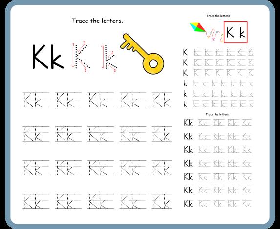 Letter K Tracing Worksheets – Free Download