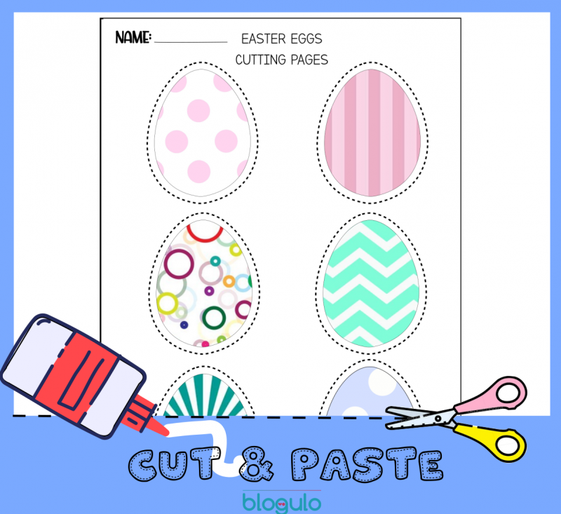 Easter Eggs  Cut & Paste Activity Worksheet