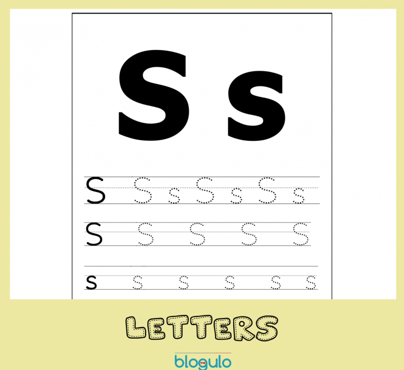 Letter S Tracing Activity and Recognition Worksheet – Free Download