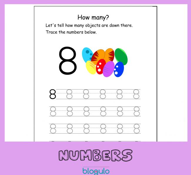 Number 8 Tracing Activity Printable Worksheet – Free Download