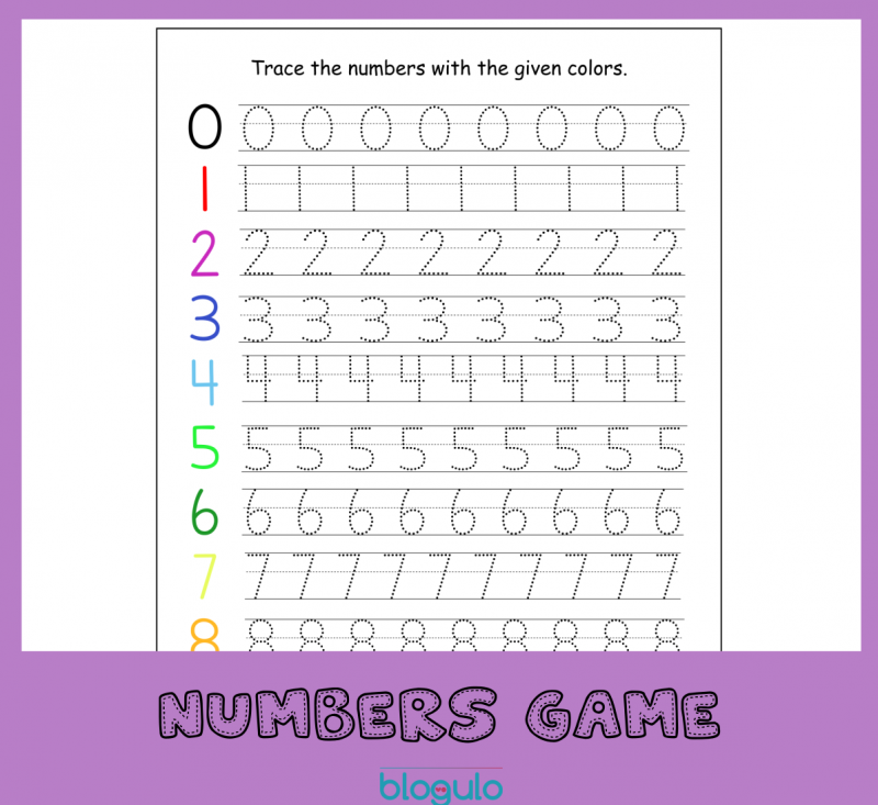 Numbers 0-9  Tracing Activity Printable Worksheet – Free Download