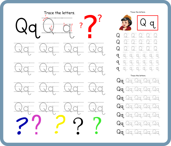 Letter Q Tracing Worksheets – Free Download