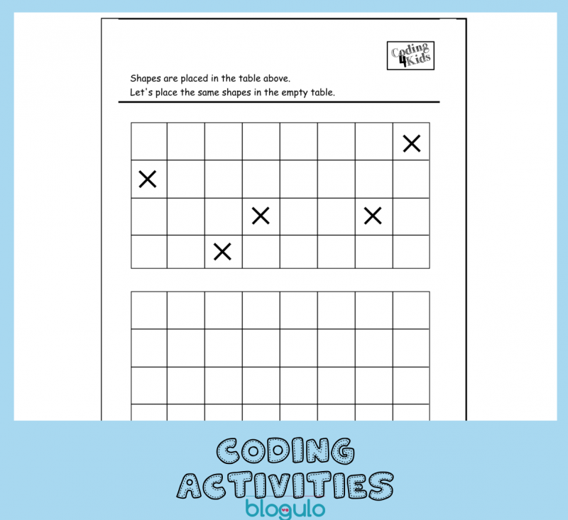 Coding and Algorithm Activities for Kids-Copy the Coordinates