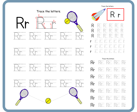 Letter R Tracing Worksheets – Free Download