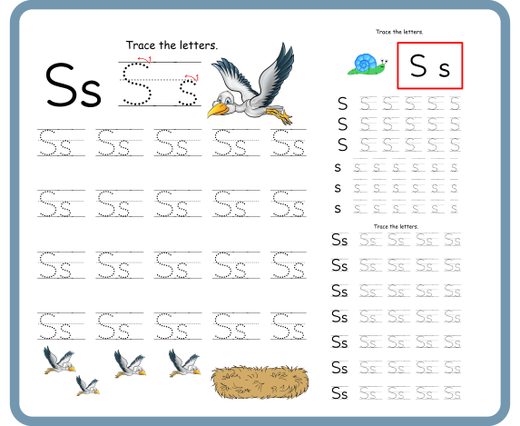 Letter S Tracing Worksheets – Free Download