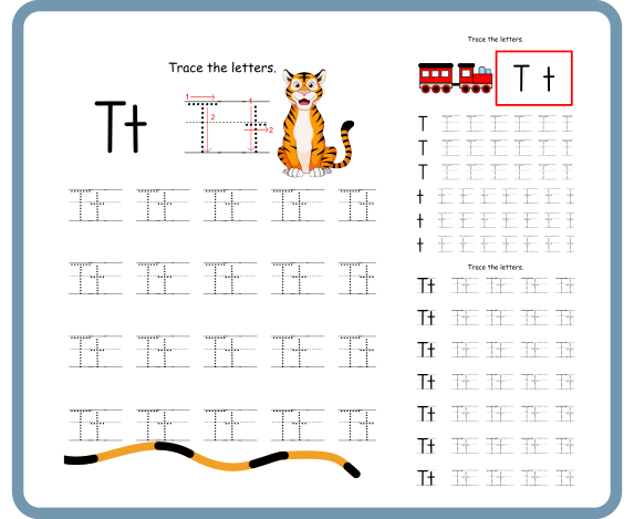 Letter T Tracing Worksheets – Free Download