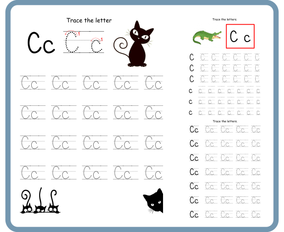 Letter C Tracing Worksheets -Free Download