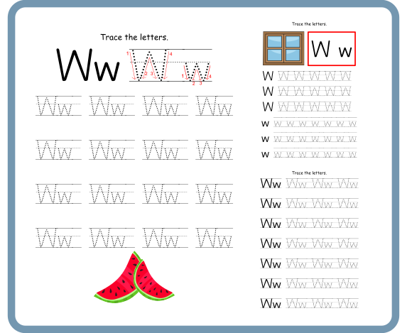 Letter W Tracing Worksheets – Free Download