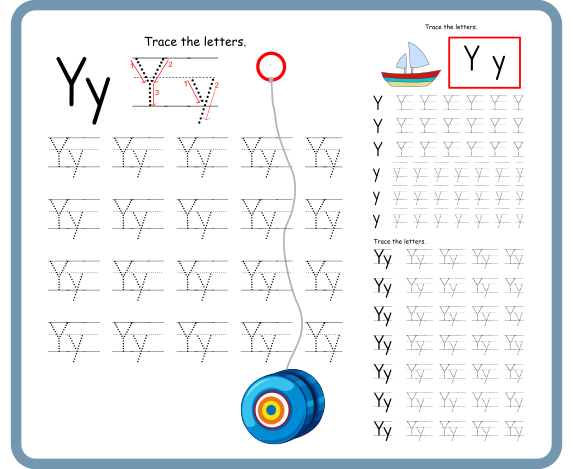 Letter Y Tracing Worksheets – Free Download