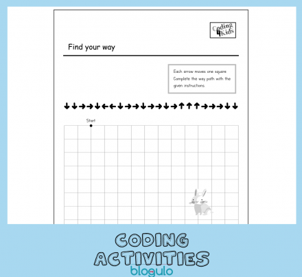 Coding and Algorithm Activities for Kids – Complete the Way