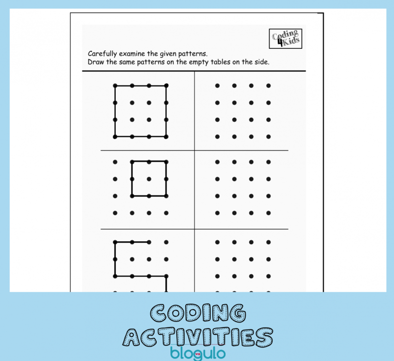 Coding and Algorithm Activities for Kids-Copy Patterns