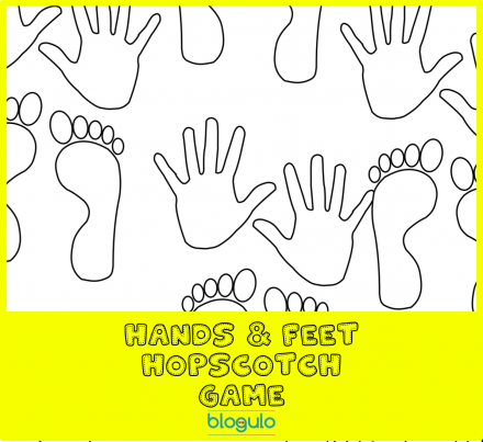 Hand and Feet Hopscotch Game -ink save