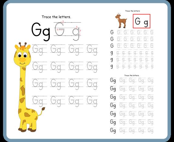 Letter G Tracing Worksheets – Free Download