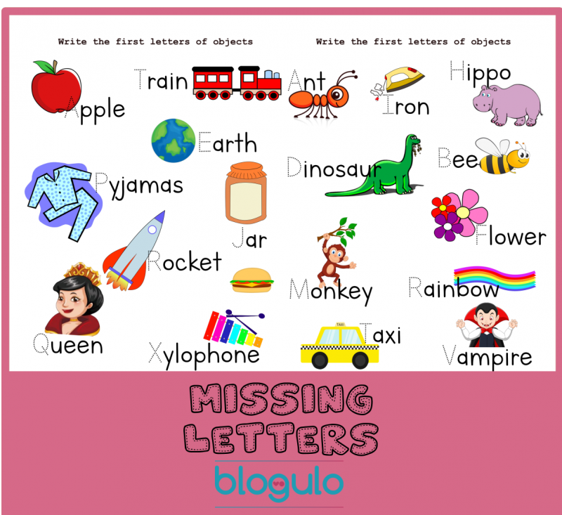 First Letters Activity Worksheets – Free Download