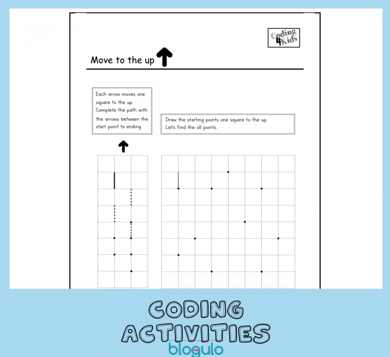 Coding and Algorithm Activities for Kids- Move UP