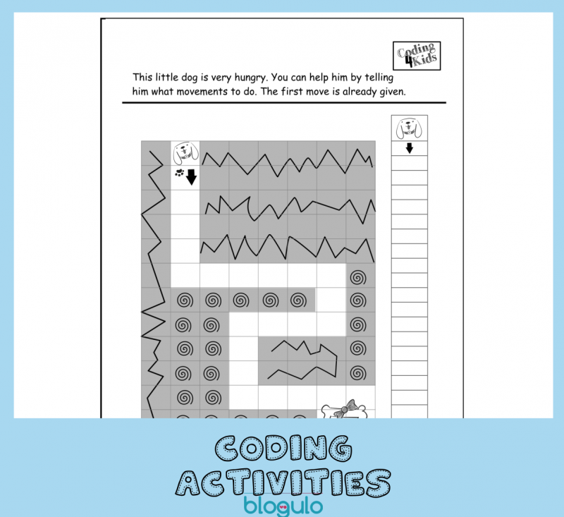 Coding and Algorithm Activities for Kids-Move Forward