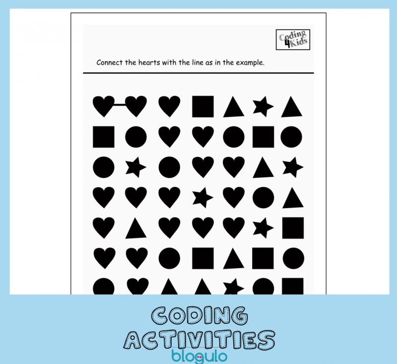 Coding and Algorithm Activities for Kids – Following Shapes